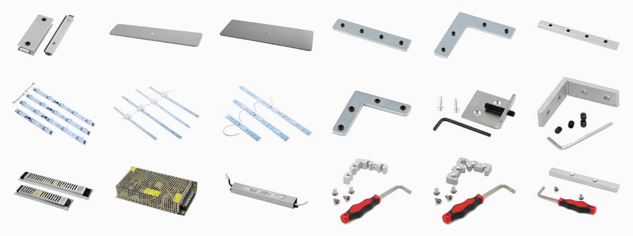 SEG Rahmen Zubehör, SEG frame system, Befestigung / Zubehör SEG, Alu ...